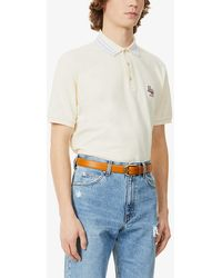 Gucci Brand-embroidered Slim-fit Cotton Polo Shirt - White
