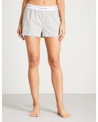Calvin Klein - Modern Cotton Cotton Pyjama Shorts - Lyst