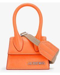 Jacquemus Le Chiquito Mini Leather Top Handle Bag - Orange