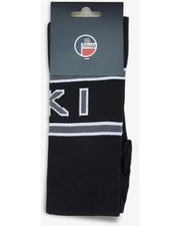 Fusalp Ski-jacquard Stretch-knitted Socks - Black