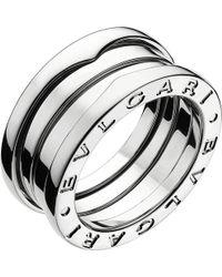 BVLGARI | B.zero1 Three-band White Gold Ring | Lyst