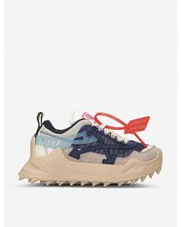 Off-White c/o Virgil Abloh Odsy-1000 Leather Sneakers - Blue