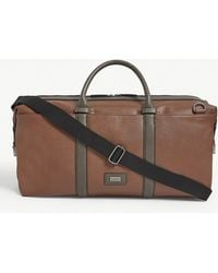 Ted Baker Geome Faux-leather Holdall - Brown
