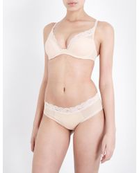 Passionata - Brooklyn Tulle And Floral-lace Plunge Bra - Lyst