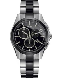 Rado - R32038152 Hyperchrome Chronograph Stainless Steel And Ceramic Watch - Lyst