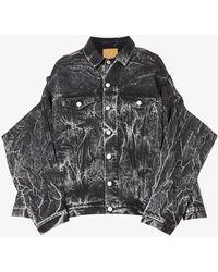 Martine Rose Ferrero Faded-wash Denim Jacket - Black