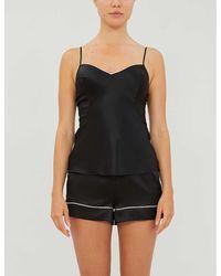 Agent Provocateur Classic Silk-satin Pajama Shorts - Black