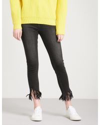 Mo&co. - Destroyed Skinny High-rise Jeans - Lyst