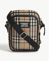 Burberry Freddy Check Canvas Reporter Bag - Multicolor