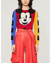 Benetton Mickey Mouse Sweater - Red