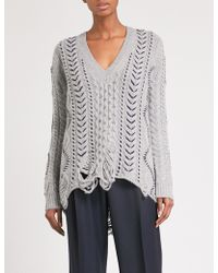 Gabriela Hearst | Dorian V-neck Wool And Cashmere-blend Jumper | Lyst