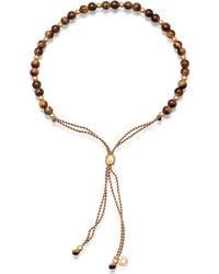 Astley Clarke Biography Tiger's Eye 18ct Gold-plated Beaded Bracelet - Metallic