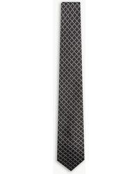Givenchy - Logo Square Check Pattern Silk Tie - Lyst