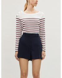 Claudie Pierlot Taylor Stripe Cotton-jersey T-shirt - Blue