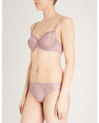 Triumph - Florale Peony Lace And Mesh Underwired Bra - Lyst