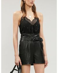 Zadig & Voltaire - Christy Strass Silk-crepe Camisole - Lyst