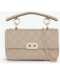 Valentino Garavani Women's Poudre Quilted Leather Small Shoulder Bag - Natural
