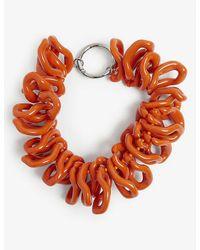 Dries Van Noten Chunky Abstract Plastic Necklace - Orange