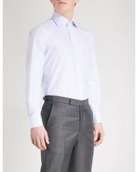 Emmett London - Bengal-stripe Slim-fit Cotton Shirt - Lyst