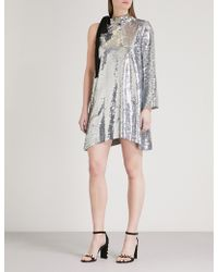 Mo&co. - One-shoulder Sequined Mini Dress - Lyst