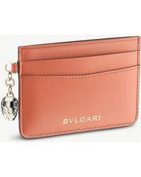 BVLGARI - Serpenti Forever Charm Leather Cardholder - Lyst