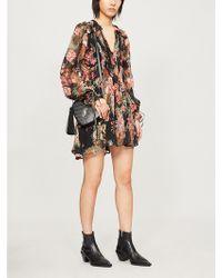 The Kooples - Floral-print Crepe Dress - Lyst