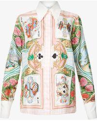 CASABLANCA Graphic-print Silk Shirt - Multicolour