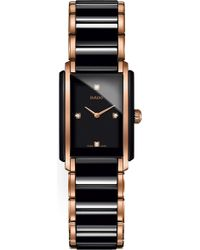 Rado - R20612712 Integral Ceramic And Rose Gold Watch - Lyst
