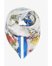 Maje Silk Jardin Scarf - Blue