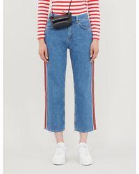 Claudie Pierlot Priscah Straight High-rise Jeans - Blue