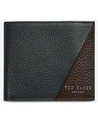 Ted Baker Robec Colour Block Leather Bifold Wallet - Blue