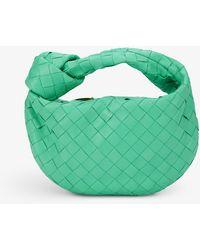 Bottega Veneta The Mini Jodie Intrecciato Leather Hobo Bag - Green