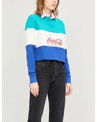 f8ce6d70975 Tommy Hilfiger - Tommy Jeans X Coca Cola Cotton-jersey Cropped Top - Lyst