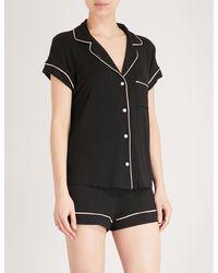 Eberjey Gisele Stretch-jersey Pyjama Set - Black