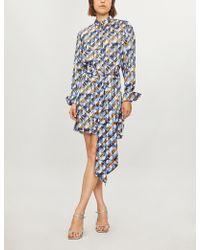 Mary Katrantzou - Sonia Satin Shirt Dress - Lyst