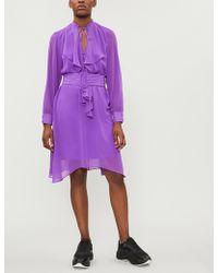Mo&co. - Belted Chiffon Dress - Lyst