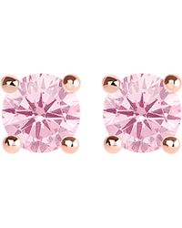 Thomas Sabo - Glam And Soul Pink Stone Large Sterling Silver And 18k Rose-gold Plated Earrings - Lyst