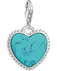 Thomas Sabo - Charm Club Heart Silver Charm Pendant - Lyst