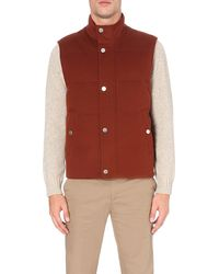 Gieves & Hawkes Quilted Wool Gilet - Multicolour