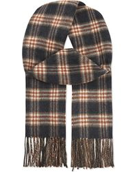 Gieves & Hawkes Checked Cashmere Scarf - Brown