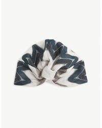 Missoni Zigzag Knotted Woven Turban - Blue