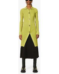 Bottega Veneta Ribbed Cotton And Silk-blend Cardigan - Multicolor