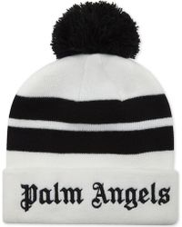 Palm Angels - Striped Bobble Beanie - Lyst