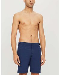 Orlebar Brown Dane Relaxed-fit Swim Shorts - Blue