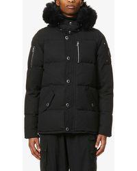Moose Knuckles Padded Hooded Cotton-blend Down Jacket - Black