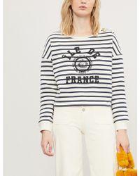 Claudie Pierlot - Tim Nautical Striped Cotton-blend Sweatshirt - Lyst
