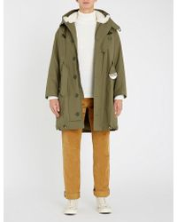 Sandro - Liam Shearling-lined Cotton Coat - Lyst
