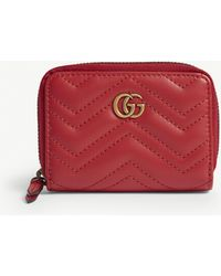 Gucci - Marmont Zip Around Wallet - Lyst