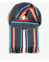 Paul Smith - Twisted Artist Wool Scarf - Lyst