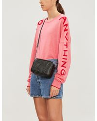 Zadig & Voltaire Graphic-sleeve Oversized Merino Wool Sweater - Pink